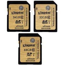 Kingston SDHC/SDXC Class 10 UHS-I Card (SDA10/16GB, 32GB, 64MB, 128GB, 512MB)